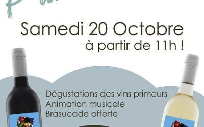 Le Vin Primeur arrive – Dégustation le Samedi 20 Octobre à 11h.
